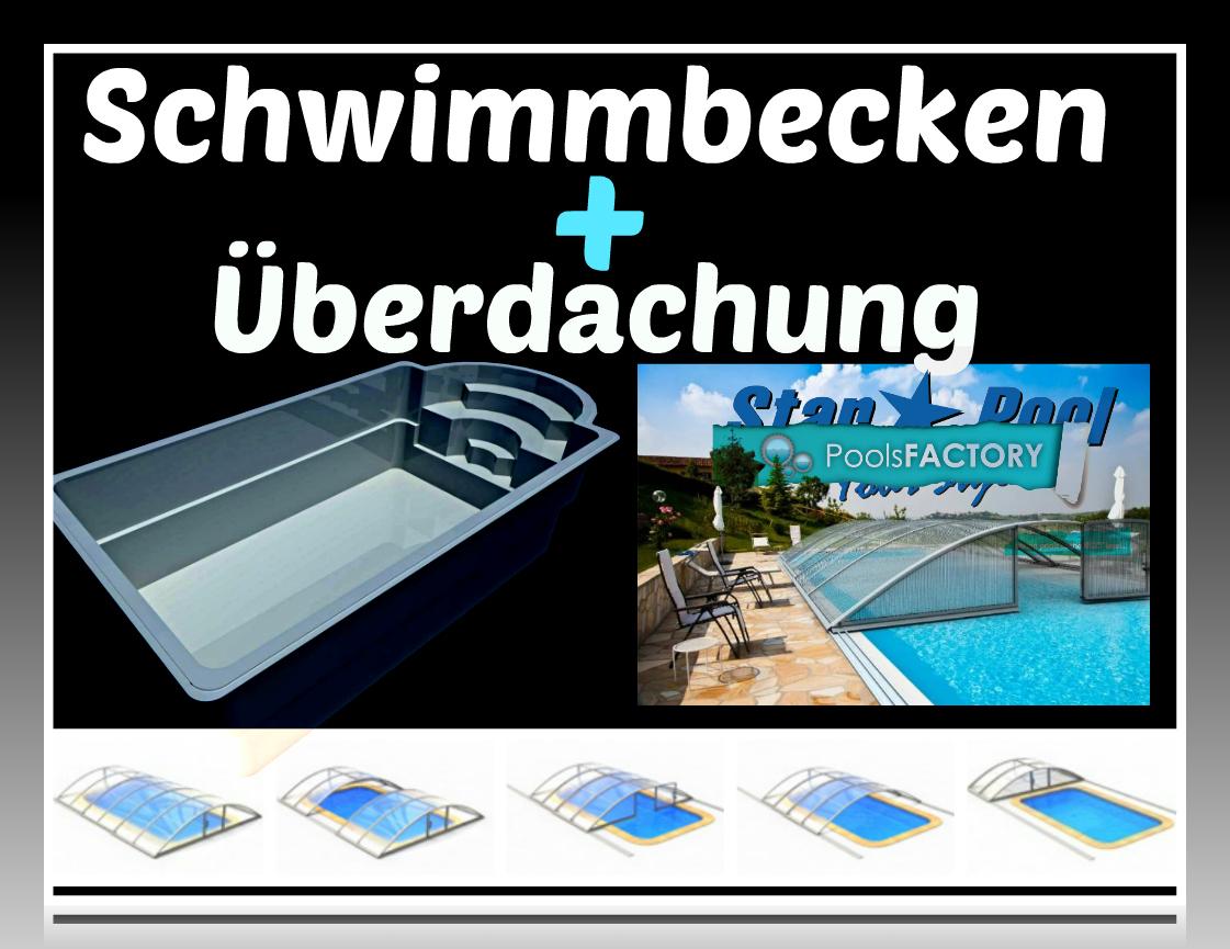 gfk schwimmbecken helios 6 3 inkl uberdachung. Black Bedroom Furniture Sets. Home Design Ideas