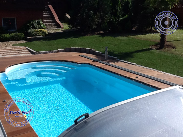 fibreglass swimming pool mini pool lift small but fine gfk pool finished basin bath ebay. Black Bedroom Furniture Sets. Home Design Ideas