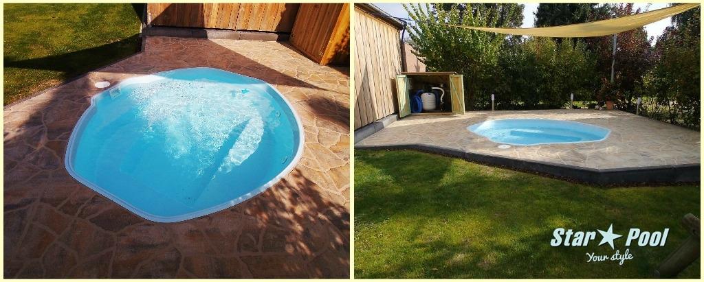 ozzy 2 85 fiberglass swimming pool garden ready pool basin polyester private ebay. Black Bedroom Furniture Sets. Home Design Ideas