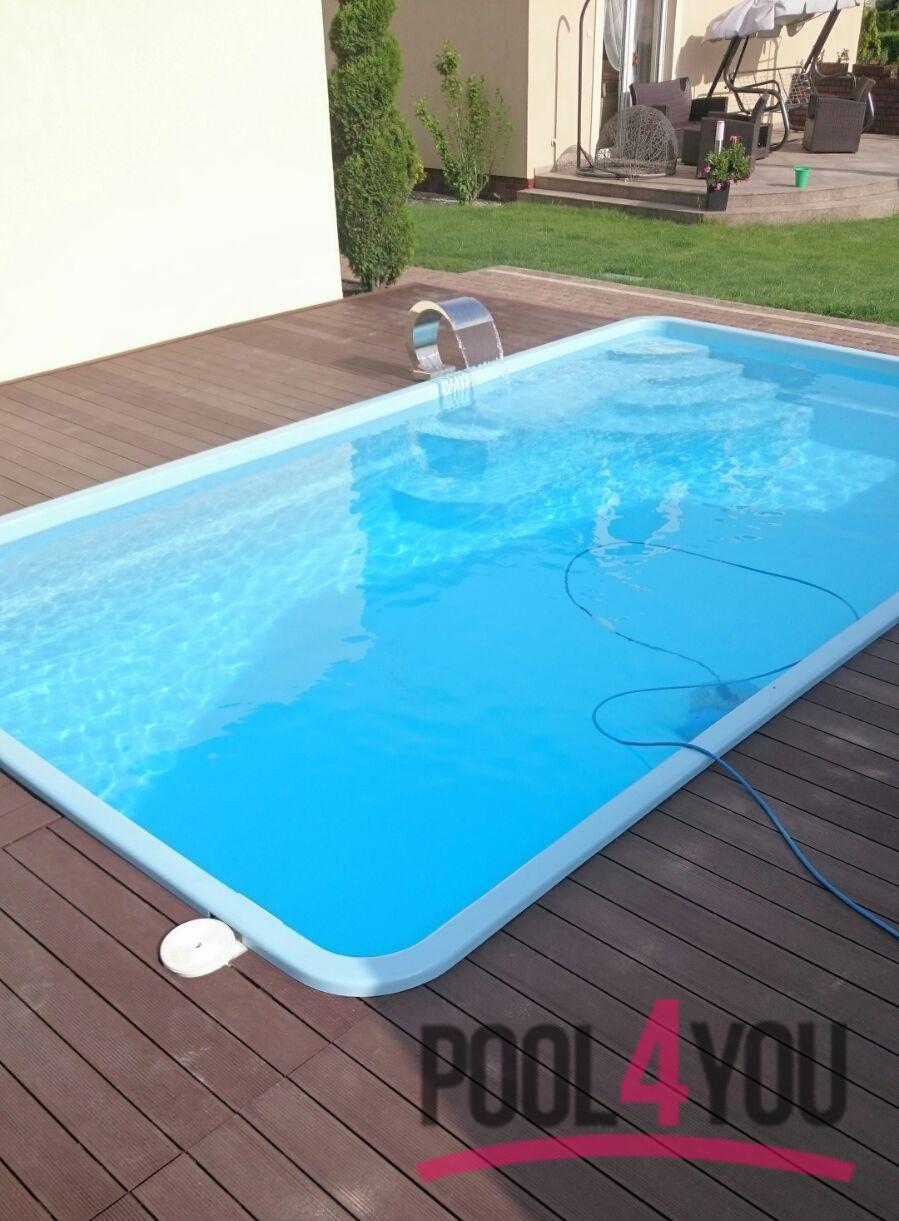 j gfk schwimmbecken einbaubecken gfk pool fertigpool amur 3 70 set becken ebay. Black Bedroom Furniture Sets. Home Design Ideas