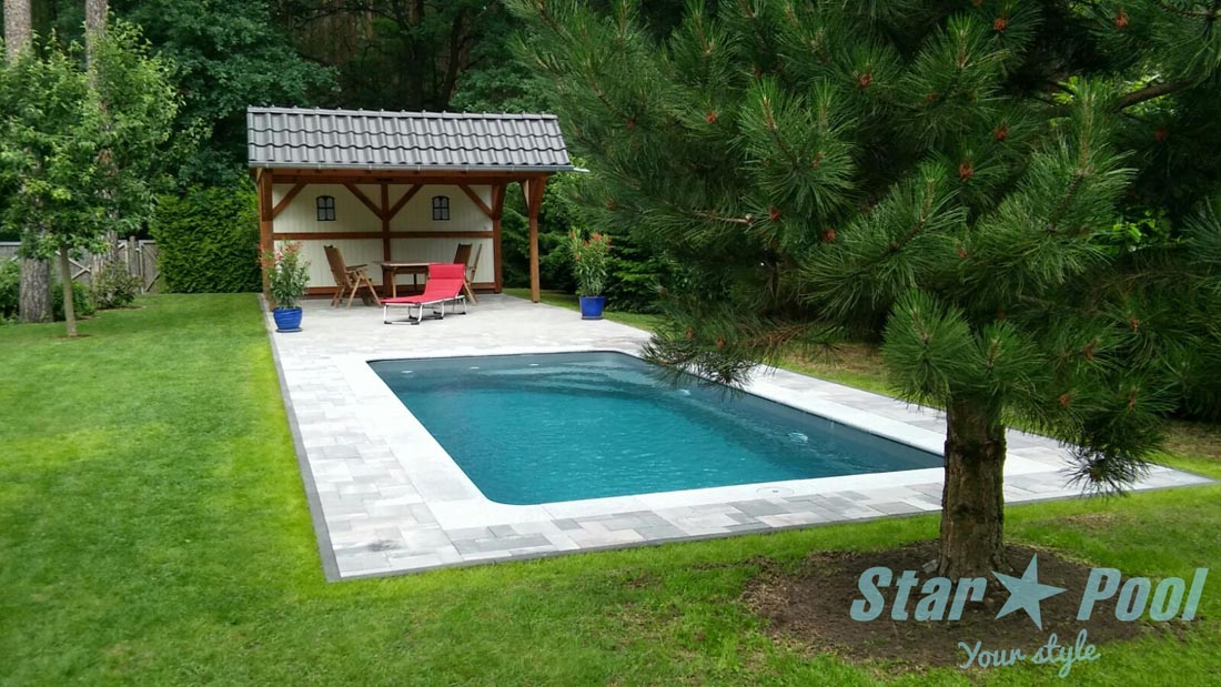 K in ground fiberglass polyester swimming pool venus 7 0x3 for Show pool result