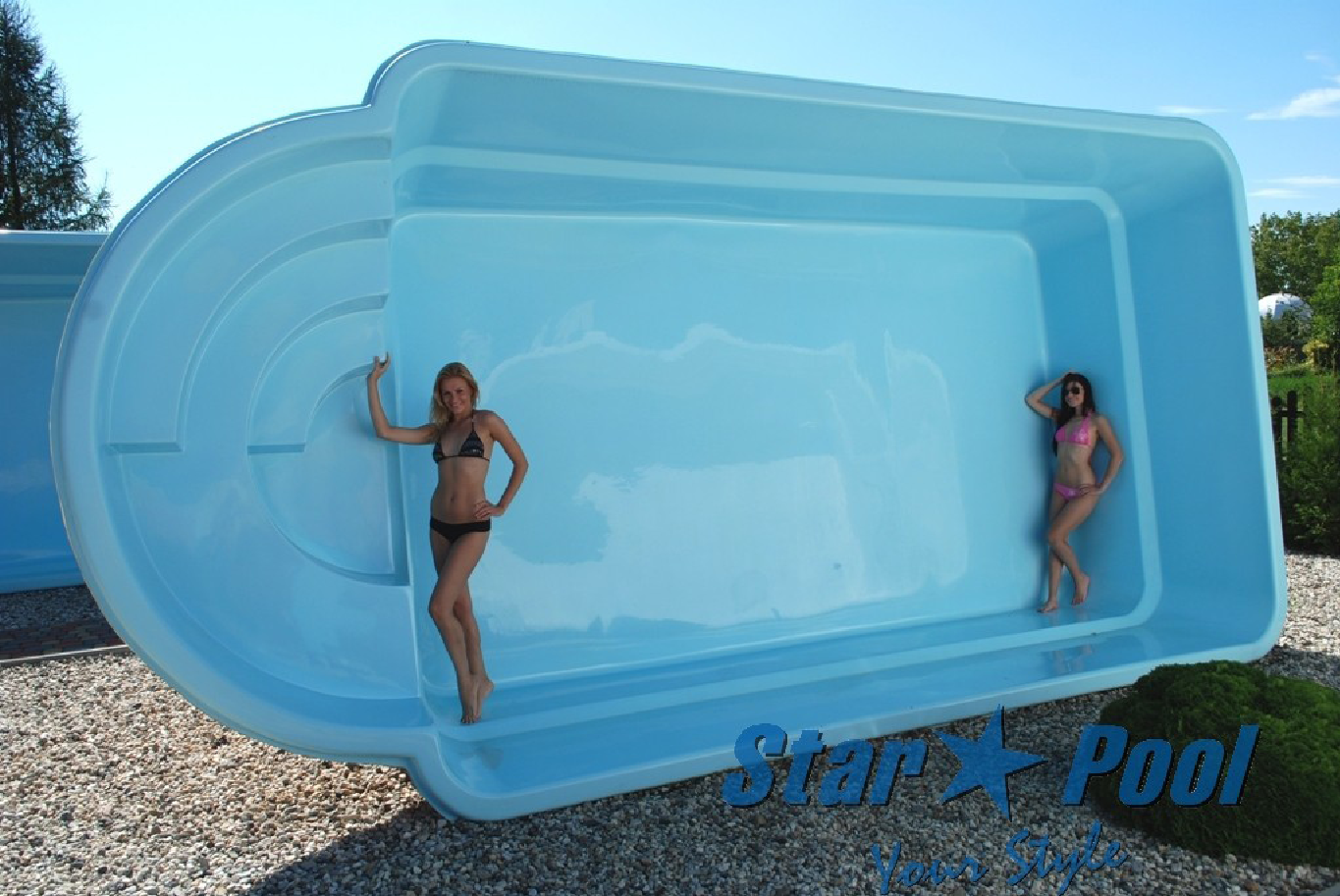 Polyester pool komplettset h user immobilien bau for Styropor pool hornbach